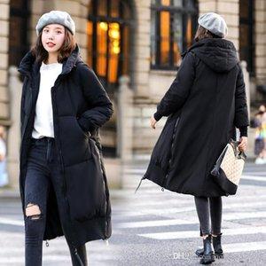 Inverno Down Jacket donna del design Hot Jacket allentati casuali di Hip Hop caldo di moda lunga sezione femminile giacca per aumentare Cott