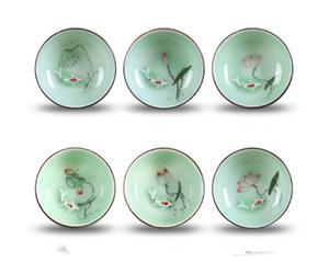 Céramique Golden Fish tasse tasse à thé boisson chinoise tasse à thé cadeau théière en céramique Chine Kung Fu Set à thé tasse en céramique