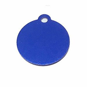 dog tag pendant decor glitter circle shape pets stainless identity card tag pet farm products supplies