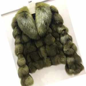 ETHEL ANDERSON lujo JacketsCoats auténtico real con cuello corto para las señoras Fox prendas de vestir exteriores En Piel prendas T200104
