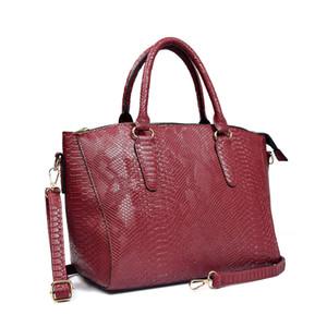 Women Snake PU Leather Handbag Casual Large Top Handle Tote Bag for Ladies  Designer Crossbody Bag Serpentine Shoulder