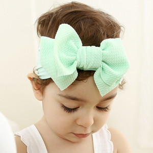 2019 New Fashion Baby Boy Girl Headband Solid Bowknot Infant Hairband Children Soft Headwear 10 colours to choose