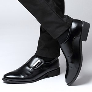 Marca Shoes Inglaterra Tendência lazer sapatos de couro respirável para Male Footwear Loafers Homens Flats Big Size 2019