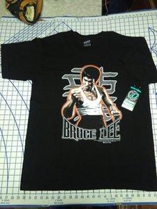 Vintage Bruce Lee Mens Shirt XL groß? Otomix Black Jeet Kune Do Martial Artser