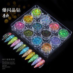 1g Nail Glitter Metallic Couleur Nail Art UV Gel Polissage Chrome Flocons Pigment Dust Decorations Manucure
