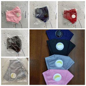 Adult Dustproof PM2.5 Face Mask Breathing Valve Mask Washable Reusable Anti-Dust Fog Face Cotton Designer Masks RRA3146