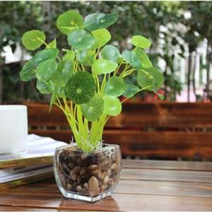 Branchen Green Lotus-Blatt-Imitation Farn Kunststoff künstliches Gras Blätter Pflanze für Haupthochzeits-Dekoration Arrangement