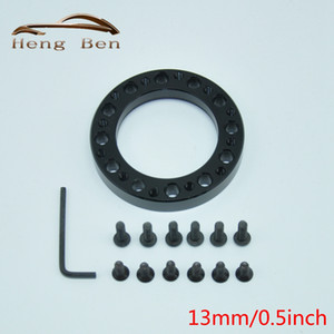 Black Aftermarket Aluminium Steering Wheel Hub Boss Kit steering wheel Adapter Spacer 13mm 0.5inch