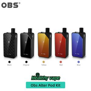 100% originale OBS Alter Vape Pod Kit Sistema 2500mAh 70W max doppia uscita del flusso d'aria slot regolabili per Subohm MTL Vaping