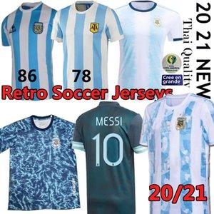1986 Argentina de fútbol Jersey retro Maradona 86 Classic Vintage 1978 retro Argentina Maradona 78 camisetas de fútbol Maillot Camisetas de Fútbol