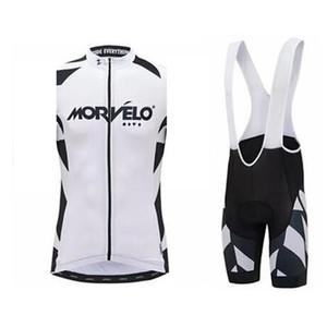 2019 Morvelo Team Велоспорт Рукавов Джерси Жилет Нагрудник Шорты Шорты Мужские Летние Открытый Краткий Сухие Горный Велосипед Высококачественный Жилет набор K061303