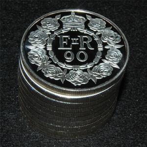 무료 배송 1pcs / lot, 2016 GREAT BRITAIN 엘리자베스 II 크라운 탄생 90 주년 퀸즈 코인