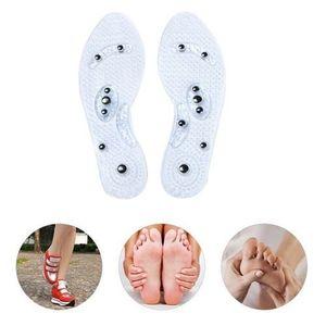 1 Par Hombres Mujeres Plantilla de silicona terapia magnética anti fatiga Cuidado de la Salud las plantillas del masaje WML99