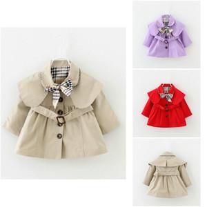 Bébé Filles Manteau Tranchée Printemps Automne Tops Enfants Trench Veste Manteau Vêtements Enfants Vêtements À Manches Longues Tranchées