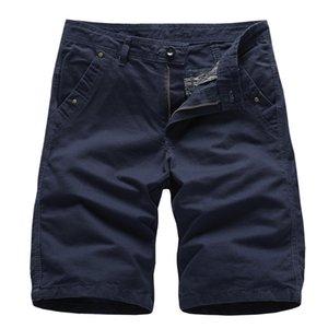 Dropshipping 2019 Modis Pantalones cortos para hombre Pantalones cortos militares de alta calidad Hombres 100% algodón Jogger sólido Hombres Casual Beach Shorts hombres MX190718
