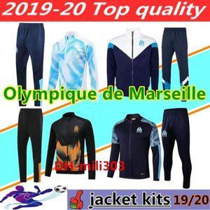 2019 2020 Olympique de Marseille soccer jacket tracksuit Maillot De Foot 19 20 PAYET THAUVIN OM Football jacket jogging training suit