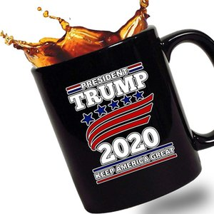Red Handle Ceramic Coffee Trump Pence Keep America Great! 2020 Conservative Gift Tea Cup Trump Coffee Cup
