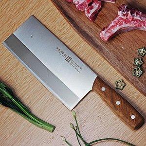 8 pollici in acciaio inossidabile Cleaver Butcher Knife Pro Maniglia Coltello da cucina di legno Tagliere coltello da cucina Strumenti di cucina Chef Knifve