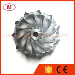GT15-25 784369-0002 44,39 / 60,01 milímetros 11 + 0 lâminas de alto desempenho Turbo alumínio roda do compressor 2618 / Ponto Fresagem / Turbo Billet