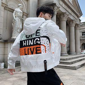 Luxuxmann Jacke Herbst mit Kapuze Marke Jacke Frühling und Herbst beiläufige Loaded Hip-Hop-Stil Kleidung