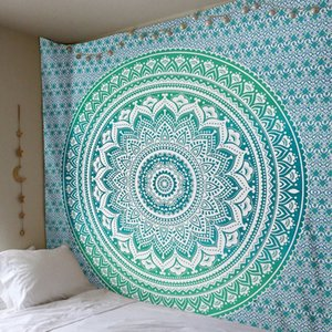 Enipate büyük Mandala Hint goblen duvar asılı Bohemian Plaj Havlusu Polyester Ince battaniye Yoga şal Mat 210x150 cm battaniye