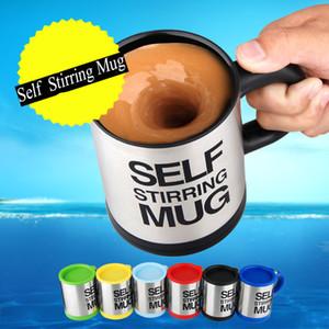 400ml Tasses électrique automatique Lazy Self Agitation Tasse de café de lait de mélange tasse de jus en acier inoxydable intelligent Mix Coupe Drinkware