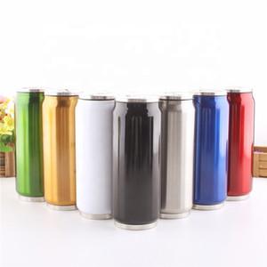 Fashional del diseño del acero inoxidable de vacío latas de dibujos animados de la paja Cola Copas Copas de Estudiantes Cilindros de Gas taza aislada