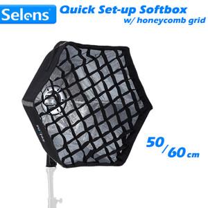 Freeshipping pieghevole Quick-Set Softbox Hexagon Light Modifier con supporto universale per Speedlite Photographic Studio Accessories