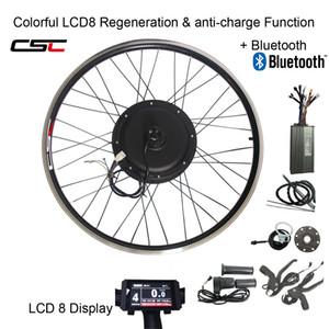 LCD ekran ile CSC e BİSİKLET 48V 1500W MTB Elektrikli bisiklet Kiti 20 24 26 27.5 28 29 inç 700C ön arka bisiklet Tekerlek Hub motor dönüşüm kiti