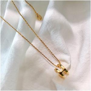 Mode vierblättriges Kleeblatt Gold-blau Messing Zwanzig Blumen-Anhänger-Halskette für Frauen Lovers Day Geschenk klassischer Designer-Marke Schmuck-Set für wo