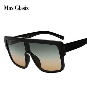Max glasiz New Square Marken-Sonnenbrille Frauen Gradient Lense Qualitäts-Sonnenbrillen für Männer übergroße Brillen