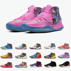 Кирие 6 VI Pre-Heat Basketbal обувь Ирвинга 6S Женщины Дети Мальчики Дети кроссовки 11 городских города с оригинальным размером коробки US4-12 n10