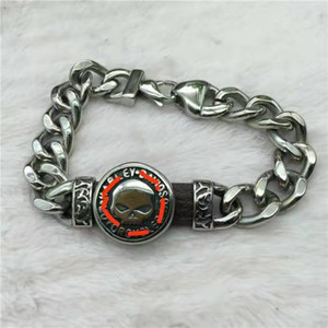 Free Shipping on Punk Trend Harley Stainless Steel Bracelet Hip Hop Jewelry