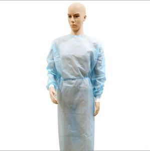 USA Stock! Isolation imperméable à l'eau Vêtements Hazmat Costume Cuff Frenulum Vêtements de protection jetables Antistaic Robes Vêtement de protection Produits