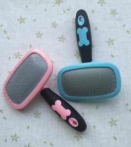 New Cat Dog Accessories Soft Comfortable Plastic Handle Hair Removal Brush Airbag Pet Grooming Pin Comb Steel Needles For Puppy