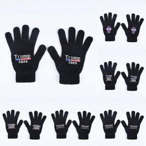 Trump 2020 Luvas Mantenha América Grande letra impressa Cinco luvas de dedos exterior Esportes de Inverno Luvas quentes 2pcs / pair LJJO7505
