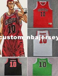 barato costume Shohoku Sakuragi Basketball Jersey Anime AFUNDANÇO ponto personalizar qualquer nome número HOMENS MULHERES JOVENS XS-5XL