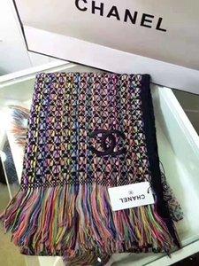 Moda 190x65CM maglieria di lana a quadri Mens sciarpa dello scialle delle donne degli uomini sciarpe inverno donne anello Poncho 2020 nuovo
