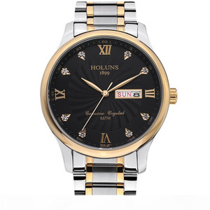 reloj de lujo HOLUNS mens watches top luxury full stainless steel strap quartz mens watches casual simple male wristwatches montre de luxe