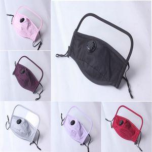 Masque visage Nouveau design 2 en 1 Bouclier Masque écran plastique protection facial isolement Masques anti-buée huile de protection Masque de protection respiratoire valv