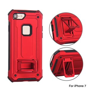 2 en 1 Cáscara del teléfono resistente Soporte para automóvil de servicio pesado Soporte de resistencia de choque Caso trasero Imán incorporado para iPhone XS Max XR 7