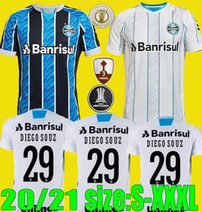 الجديدة 20 21 جريميو كرة القدم جيرسي 2020 2021 منزل بعيدا camisetas دي فوتبول GEROMEL وان KANNEMANN MILLER قمصان كرة القدم حجم S-XXXL