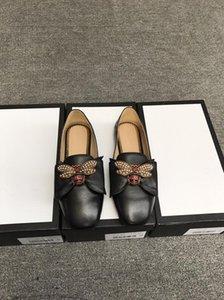 Hot SAEL-Designer donne ballerine scarpe di cuoio con l'arco Perle Bee fannulloni delle ragazze delle donne Primavera Estate Sandali piatti Loafer 34-40 con la scatola