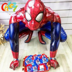 1pc 3D big Spiderman Foil Balloon iron Man Batman Hero Helium Ballons Birthday Party Decoration Supplies Children's Gifts Globos