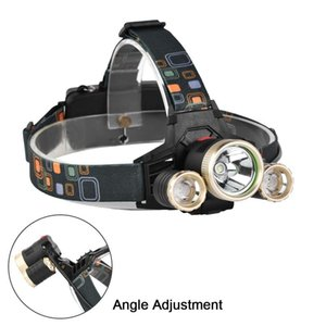 400Lm 3 LED Headlamp 4 Modes Rechargeable Headlight Head Lamp Torch Light Spotlight By 18650 For Camping Hunting A609