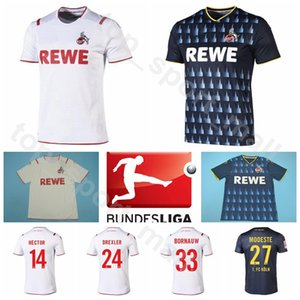 2019 2020 Erkekler Futbol FC Koln Köln 15 Jhon Córdoba Jersey 33 Sebastiaan Bornauw 23 Mark Uth 14 Jonas Hector Futbol Gömlek Setleri