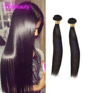 Malaysisches reines Haar 2 bündelt seidige gerade menschliche Haar-Verlängerungen 2Pcs / lot gerade Nautral Farbe-Schwarzes gerade Bündel