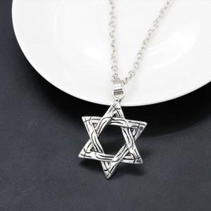 Гексаграмма ожерелье для мужчин, женщин, моды серебряный цвет Дэвид ожерелье кулон еврейский маген давид унисекс ювелирные изделия женщины мужские ожерелья