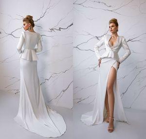 Eva Lendel robes de soirée Deux Pièces Plunge col en V sirène robe de bal de Split haut de longueur de plancher tapis rouge Runway Fashion Wear