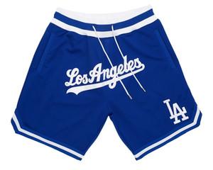 Los AngelesDodgersMEN JUST DON By Mitchell & Ness baseball Shorts Pocket PANTS S-2XL